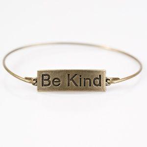 Be Kind - Brass Bangle Bracelet